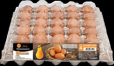 ไข่ไก่สดปลอดสาร ตราซีพี ซีเล็คชั่น เบอร์ 4 แพ็ค 30 ฟอง