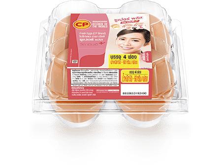 ไข่ไก่สด ซีพี ซูเปอร์พลัส วิตามิน อี แพ็ค 4 ฟอง