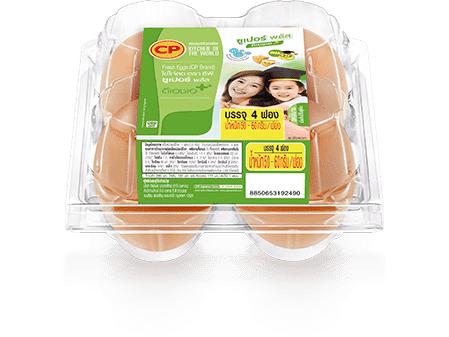 ไข่ไก่สด ซีพี ซูเปอร์พลัส ดีเอชเอ แพ็ค 4 ฟอง