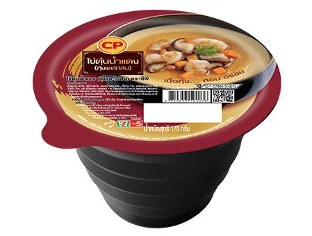 ไข่ตุ๋นน้ำแดง (กุ้งและไก่สับ)