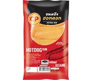 ขนมปังฮอทดอกแบบไม่โรยงา