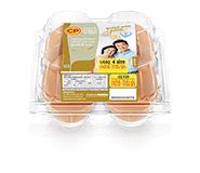 ไข่ไก่สด ซีพี ซูเปอร์พลัส โอเมก้า แพ็ค 4 ฟอง