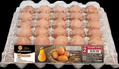 ไข่ไก่สดปลอดสาร ตราซีพี ซีเล็คชั่น เบอร์ 2 แพ็ค 30 ฟอง