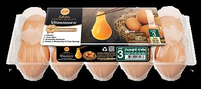 ไข่ไก่สดปลอดสาร ตราซีพี ซีเล็คชั่น เบอร์ 3 แพ็ค 10 ฟอง