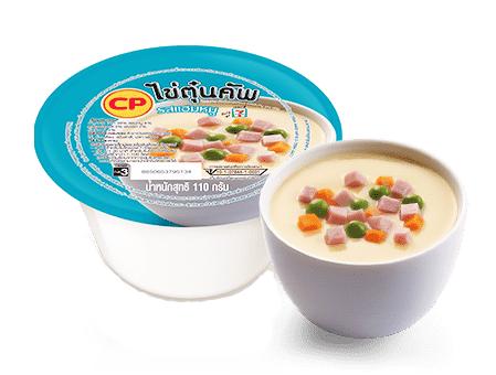 ไข่ตุ๋นคัพรสแฮมหมู