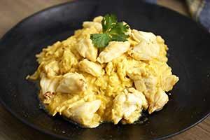 ข้าวไข่ข้นปู