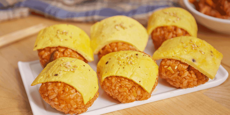 ซูชิไข่ข้าวผัดกิมจิ