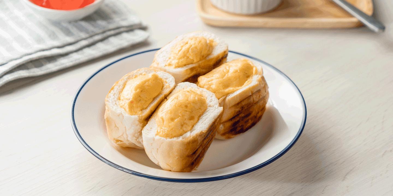ขนมปังสังขยาไข่แดงเค็ม
